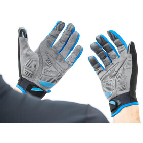 Cube X NF Long Finger Gloves, grey/blue